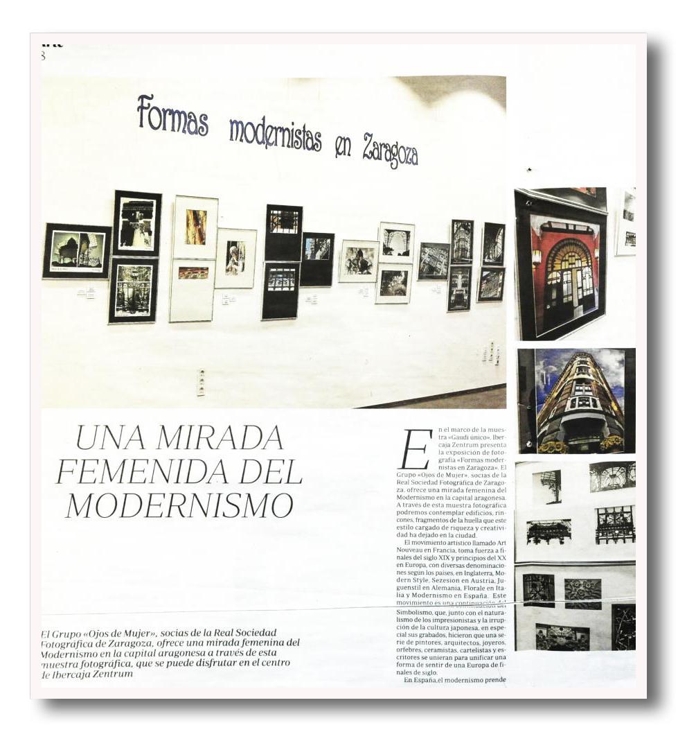 """Artes y Letras.  24 de noviembre de 2012.  """"Una mirada femenina del Modernismo"""""""